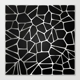 PATTERN-BLACK 3D Canvas Print