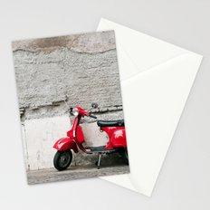 Sexy Red Vespa Stationery Cards