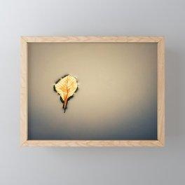 Nature. Last breath of a fallen leaf. Minimal composition. Framed Mini Art Print