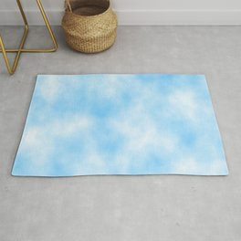 Pale Blue Clouded Art Rug
