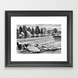 Idaho Falls - Winter Day Framed Art Print