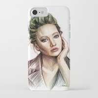 jennifer lawrence iPhone & iPod Cases featuring Jennifer Lawrence by Creadoorm