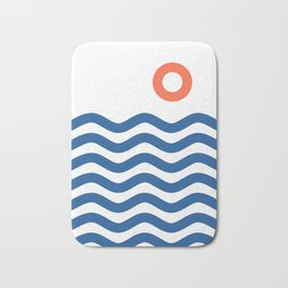 Nautical 02 Seascape Bath Mat