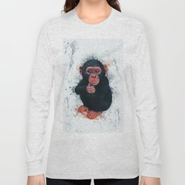Chimpanzee Art Long Sleeve T-shirt