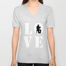 LOVE HORN Unisex V-Neck
