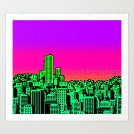 Cityscape Collage 02B Art Print