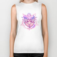 baphomet Biker Tanks featuring Baphomet (WHITE) by Gunkiss