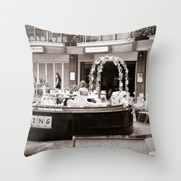 Painting Shop In A Mall Throw Pillow