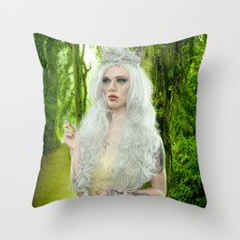 Melanie Goth Princess in the forest Throw Pillow