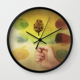 Once Upon a Time a Colorful Candy Wall Clock