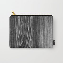 Black and white wood Carry-All Pouch