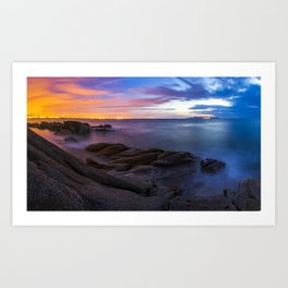 Sunrise at the Forty Foot Art Print