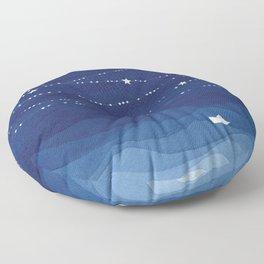 Garland of Stars IV, night sky Floor Pillow