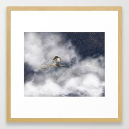 Up In The Night Framed Art Print