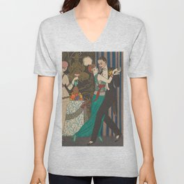 George Barbier Dance Fashion and Manners Today 1912 Unisex V-Neck