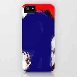 Abstract Blue White and Red Painting Minimalist iPhone Case