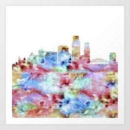 Corpus Christi City Skyline Art Print