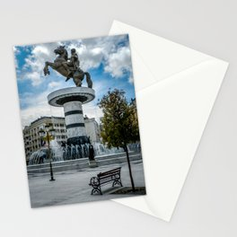 Statue of Alexander the Great at Macedonian Square - Skopje Stationery Cards