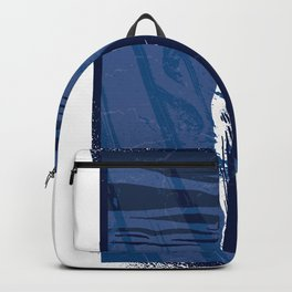 Deep blue lake with Wal Backpack