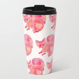 Watercolor Raccoon – Pink Palette Travel Mug