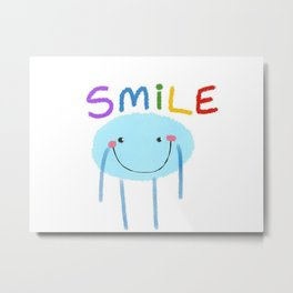 Smile Man Metal Print