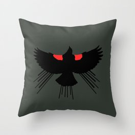 Seasons K Designs Red Winged Blackbird for Salty Raven Throw Pillow