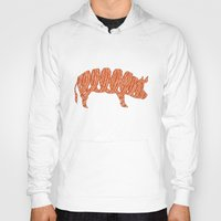 bacon Hoodies featuring bacon by nino benito