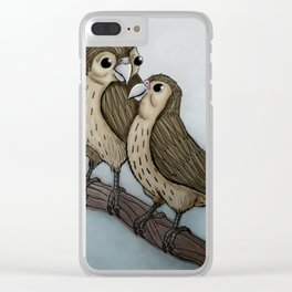 Love sparrows Clear iPhone Case