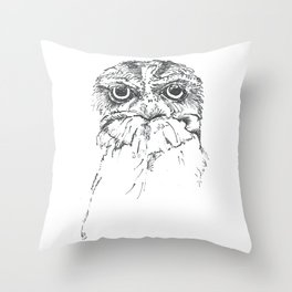 Grumpy Feathers Throw Pillow
