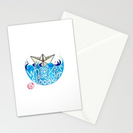 Whatever floats your boat Stationery Cards