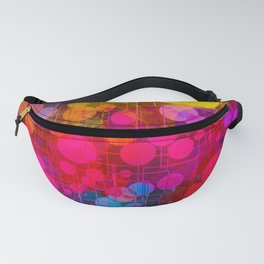 Rainbow Bubbles Abstract Design Fanny Pack