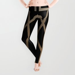BLACK&GOLD 2 (abstract artdeco geometric) Leggings
