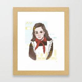 Pionerka Framed Art Print