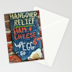 Hangover Relief Stationery Cards