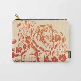 Autumn Collie | Red & Orange Ombré Carry-All Pouch