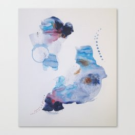 Spirit Map Oceans   Paper Study No. 15 Canvas Print