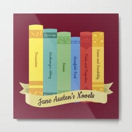 Jane Austen's Novels IV Metal Print