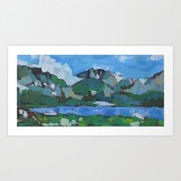 Timberline Lake Montana Art Print