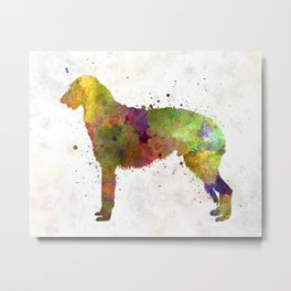 Deerhound in watercolor Metal Print
