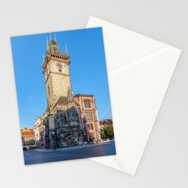 Prague view of Astronomical Clock Stationery Cards