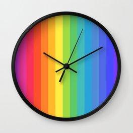 Solid Rainbow Wall Clock