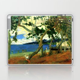 """Paul Gauguin """"On the shore of the lake at Martinique"""" Laptop & iPad Skin"""