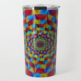 ZOOM #1 Vibrant Psychedelic Optical Illusion Travel Mug