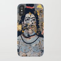 hindu iPhone & iPod Cases featuring Hindu mural by Rick Onorato