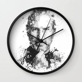 Steve Jobs splatter painting Wall Clock