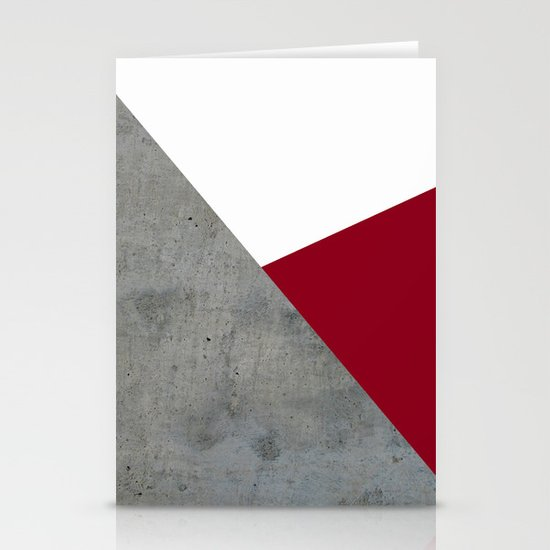 Concrete Burgundy Red White by byjwp