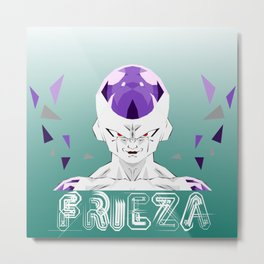 Low Poly Frieza Metal Print