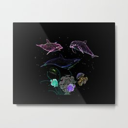 DOLPHINS AND OTHER SEA ANIMALS Metal Print