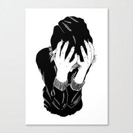 Black Eyes, Red Lights Canvas Print