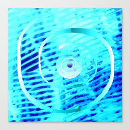 Spiral on  blue Canvas Print